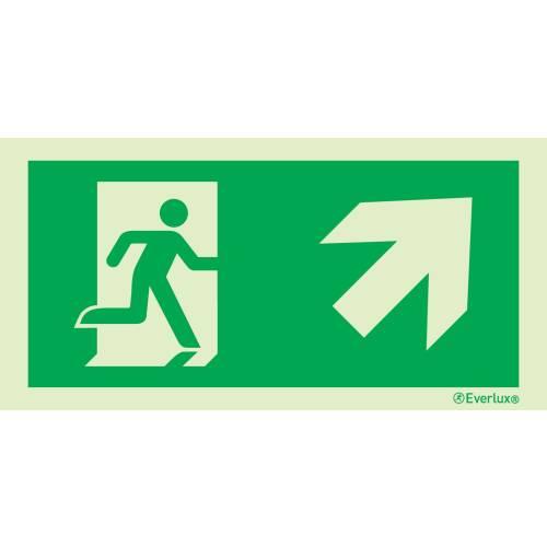 Rettungszeichen rechts aufwärts ISO 7010