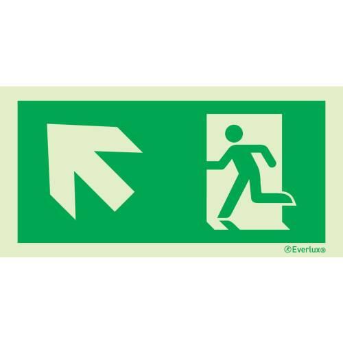 Rettungszeichen links aufwärts