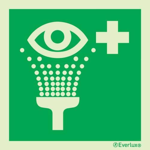 Rettungszeichen Symbole Augenspühleinrichtung