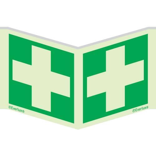 Rettungszeichen Symbole Winkelschild Erste Hilfe