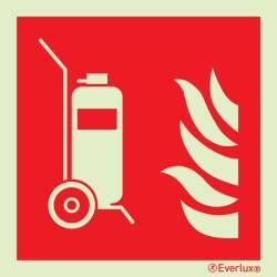 Brandschutzzeichen Fahrbare Feuerlöscher ISO 7010