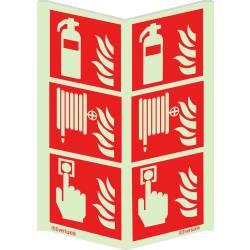Brandschutzzeichen Kombi Winkelschild