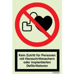 Verbotszeichen Verbot für Personen mit...