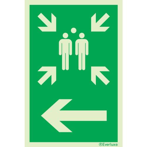 Rettungszeichen Symbole Sammelstelle links