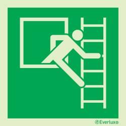 Rettungszeichen Symbole Fluchtleiter links oder rechts