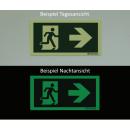 Rettungszeichen nach rechts Pfeilermontage