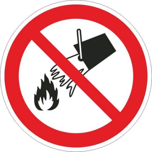 Verbotszeichen - Mit Wasser löschen verboten ISO 7010