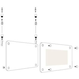Deckenmontage Doppelseitg bedruckt Acrylglas
