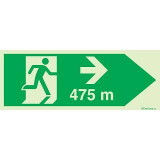 Rettungsweg rechts 475 Meter